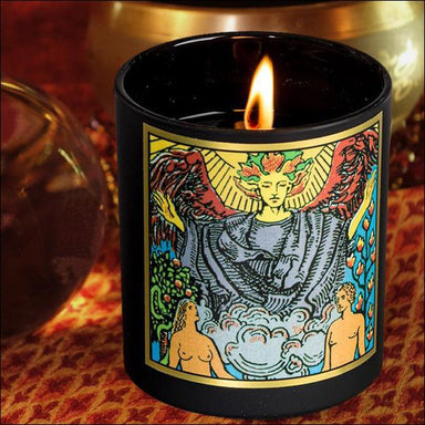 The Lovers - Magickal Tarot Candle Candle