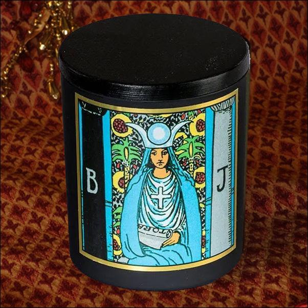 The High Priestess - Magickal Tarot Candle Candle