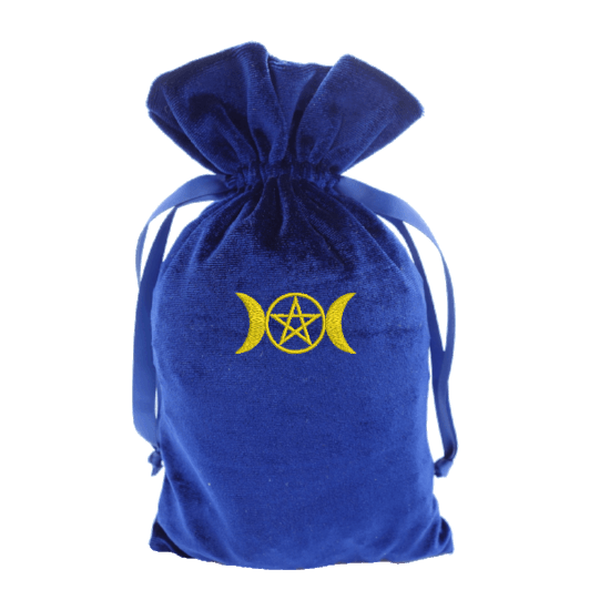 Tarot Bag with gold triple moon Bag