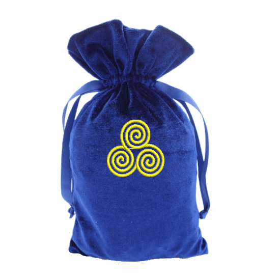 Tarot Bag with Gold Tri-Spiral Bag