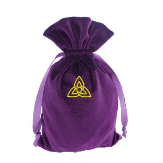 Tarot Bag with Triquetra Embroidery Bag