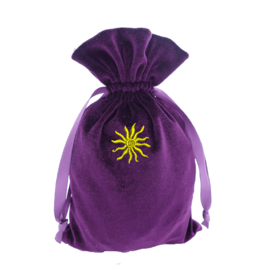 Tarot bag with gold Sun Bag