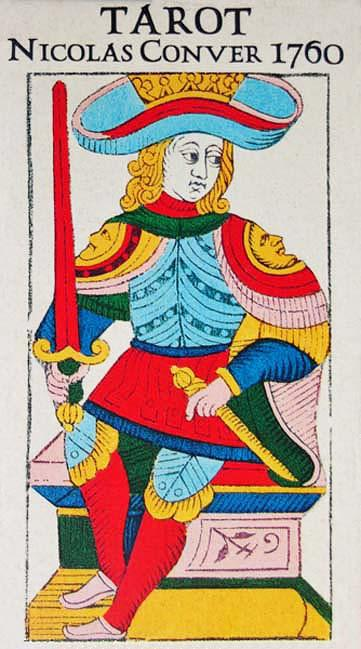 TAROT by Nicolas Conver </p> <p><em>Marseilles 1760, France</em></p> Tarot Deck