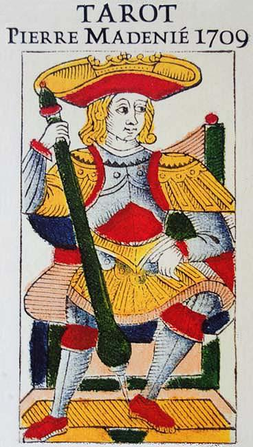 TAROT By PIERRE MADENIÉ </p> <p><em>Dijon 1709, France</em></p> Tarot Deck
