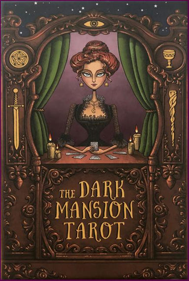 The Dark Mansion Tarot deck - Regular Version 4th. Edition - Gold edges, brown reversible card backs Tarot Deck