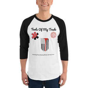 """Tools Of My Trade Tees™"" 3/4 sleeve raglan t- shirt"