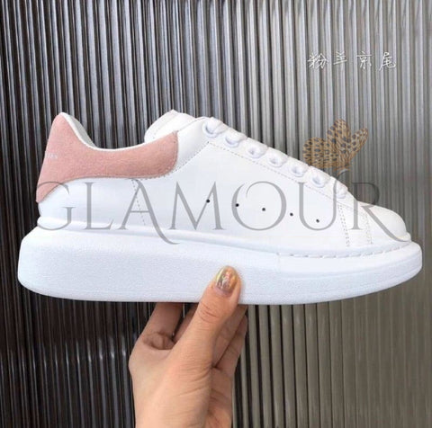 Baskets A.mcq En Cuir Bande Rose