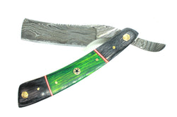 "The ""Talwar""  --  Damascus Steel Straight Razor"