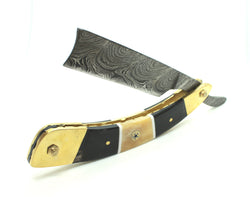 "The ""Scalawag"" - Damascus Steel Straight Razor"