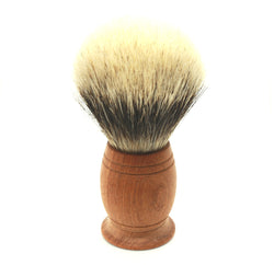 Wooden Handled Pure, Silver Tip Badger Hair Shaving Brush
