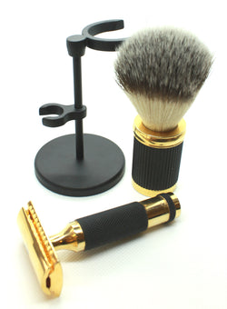 Bronze & Black Safety Razor Set
