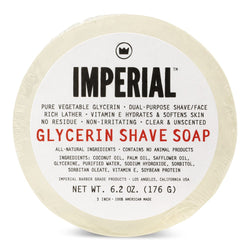 Imperial Glycerin Shave Soap Puck