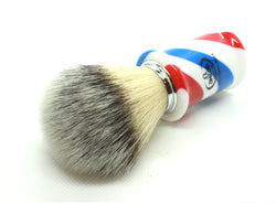 """Barber Pole"" Synthetic Fiber Omega Shaving Brush"