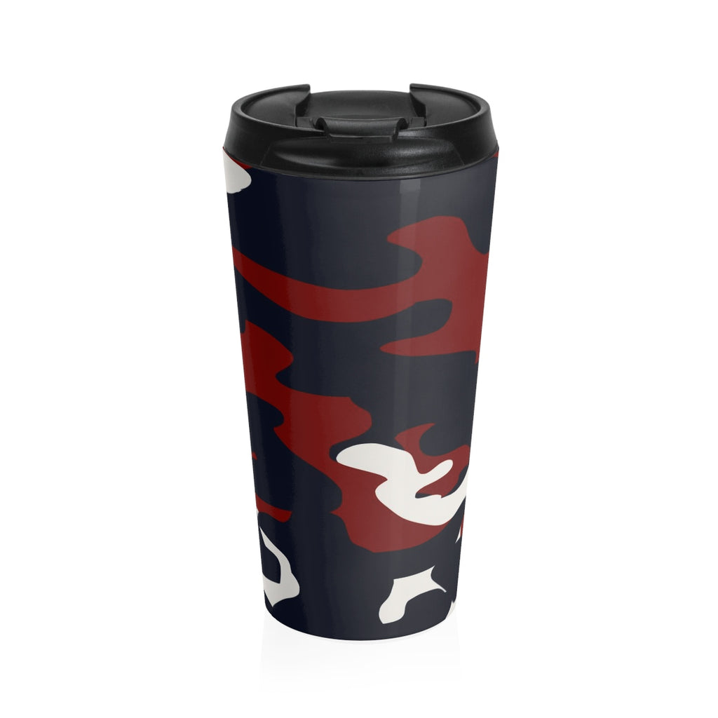 Homefront Girl® Signature Red White and Blue Camo -Stainless Steel Travel Mug - Homefront Girl