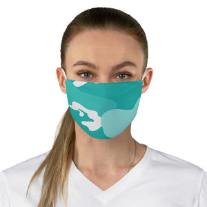 """Tiffany Camo"" Fabric Face Mask - [shop_home]"