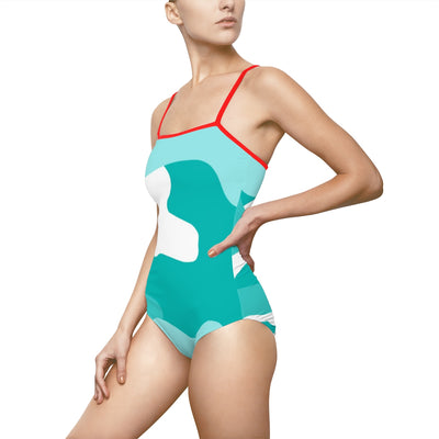 """Timeless Tiffany Camo"" Women's One-piece Swimsuit"