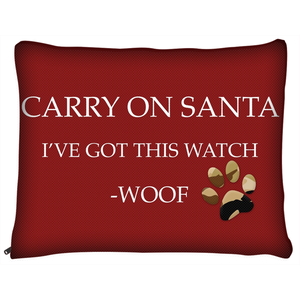 "The Homefront Pets™ Christmas ""Carry on Santa "" -Dog Beds"