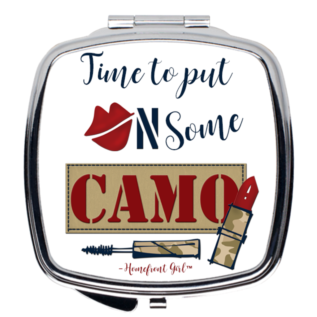"Homefront Girl® ""Time to put on some Camo"" - Compact Mirror - [shop_home]"