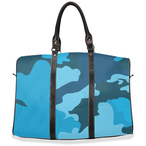 """Blue Skies Camo"" -Travel Bag"