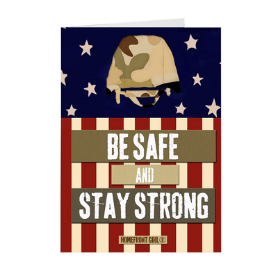 "The Homefront Girl® Deployment Card Collection ""Be Safe. Stay Strong."""