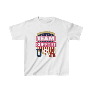 Homefront Kids™ Team Support USA - Girls Heavy Cotton™ Tee