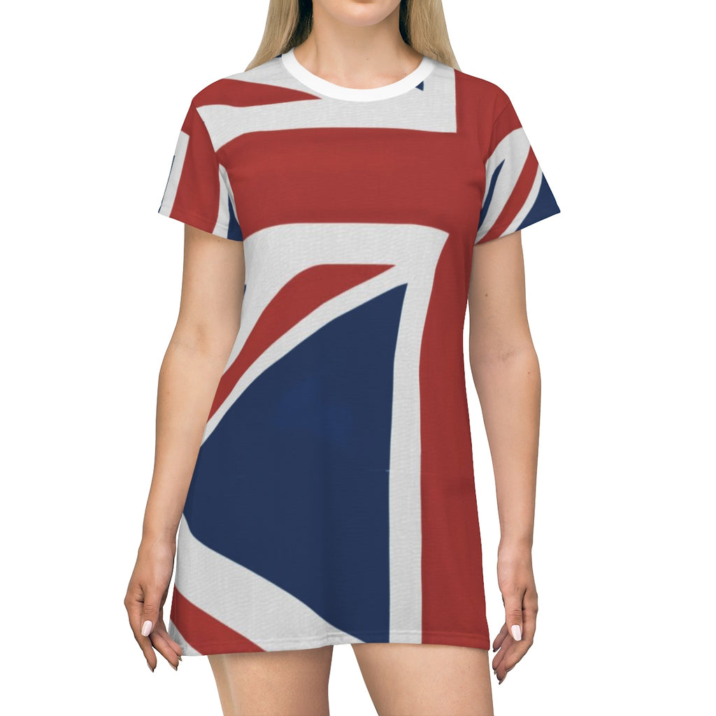 """Union Jack"" T-Shirt Dress Homefront Girl® UK - [shop_home]"