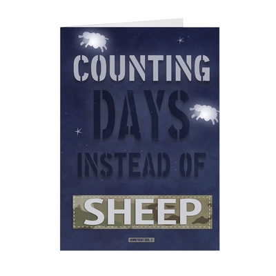 "The Homefront Girl® Deployment Card Collection ""Counting Days instead of Sheep"""