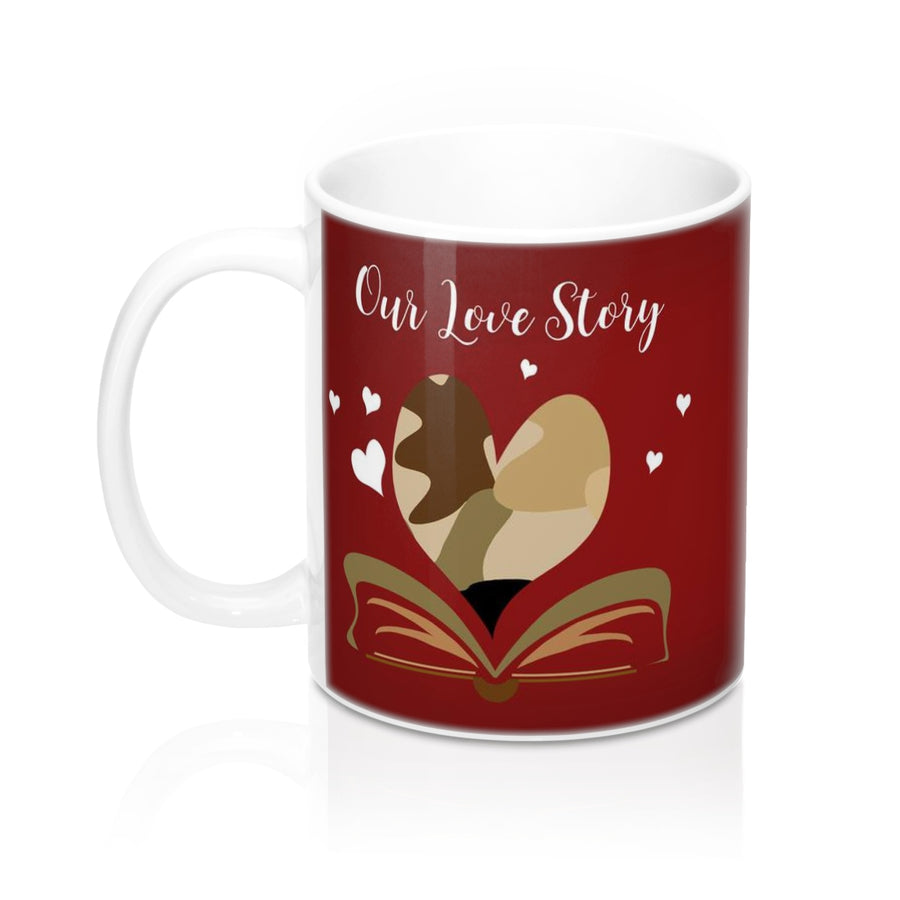 "#MilitaryLove ""Our Love Story is my Favorite"" - #Valentine Mug 11oz"