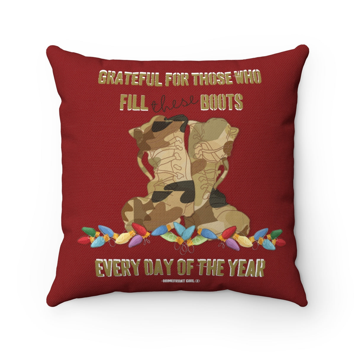 A Homefront Girl® Christmas - Spun Polyester Square Pillow