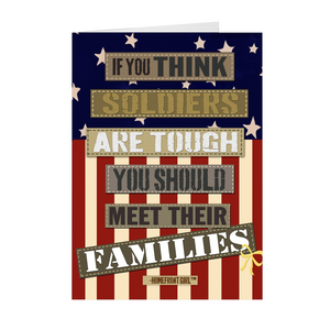 "The Homefront Girl® Card Collection "" If you think soldiers are tough meet their families"" Boxed Cards"