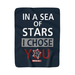 "HOMEFRONT GIRL® ""In a Sea of Stars I Chose You"" - Sherpa Fleece Blanket - [shop_home]"