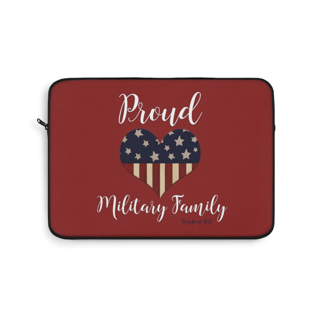 """Proud Military family"" -  Laptop Sleeve - [shop_home]"