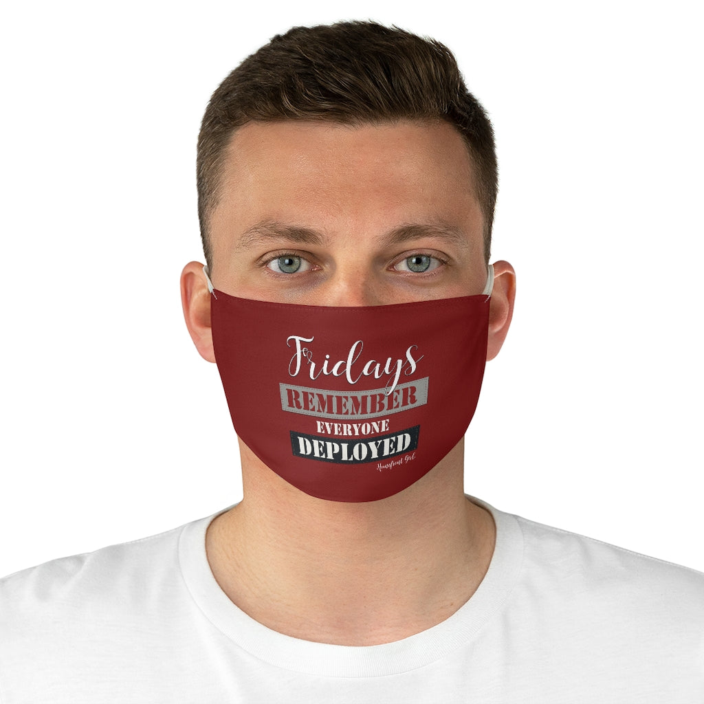 """Friday's Remember Everyone Deployed"" Fabric Face Mask - [shop_home]"