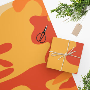 "Homefront Girl® ""Orange North Country  Camo"" -Wrapping Paper"