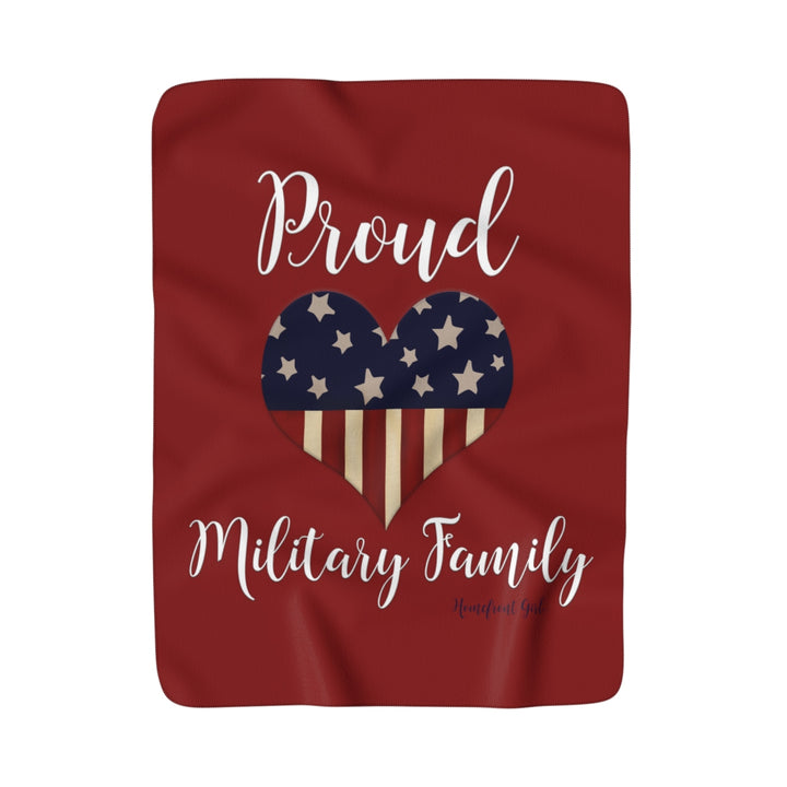 Sherpa Fleece Blanket - Proud Military Family