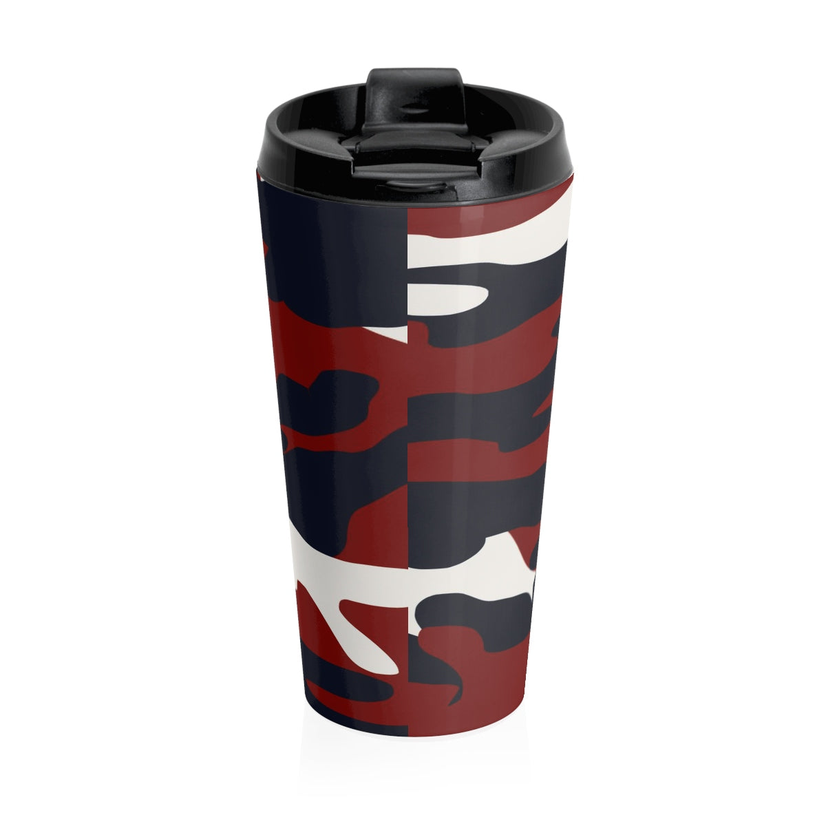 Homefront Girl® Signature Red White and Blue Camo -Stainless Steel Travel Mug - [shop_home]