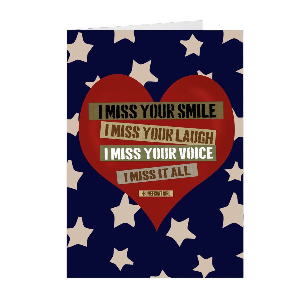 "The Homefront Girl® Deployment Card Collection  ""I Miss it All"" - [shop_home]"