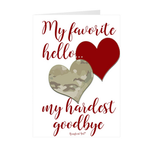 "The Homefront Girl® Deployment Card Collection ""My hardest goodbye..."""