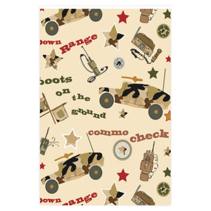 "Homefront KIDS® ""Commo Check"" -Wrapping Paper"