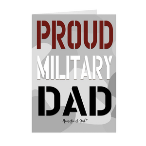 "The Homefront Girl® Deployment Card Collection ""Proud Military Dad"" - [shop_home]"