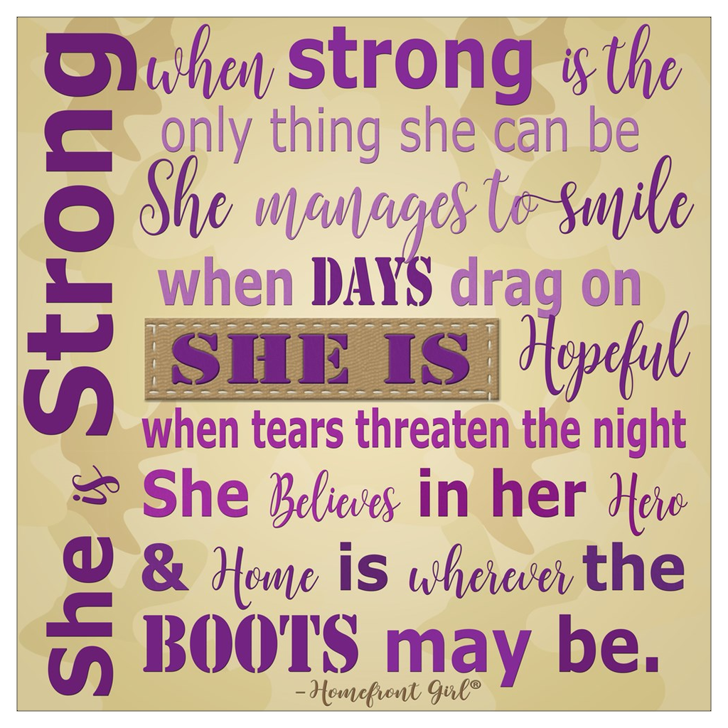 "The Homefront Girl® Deployment Card Collection ""She is Strong"" Flat note card Boxed Cards"