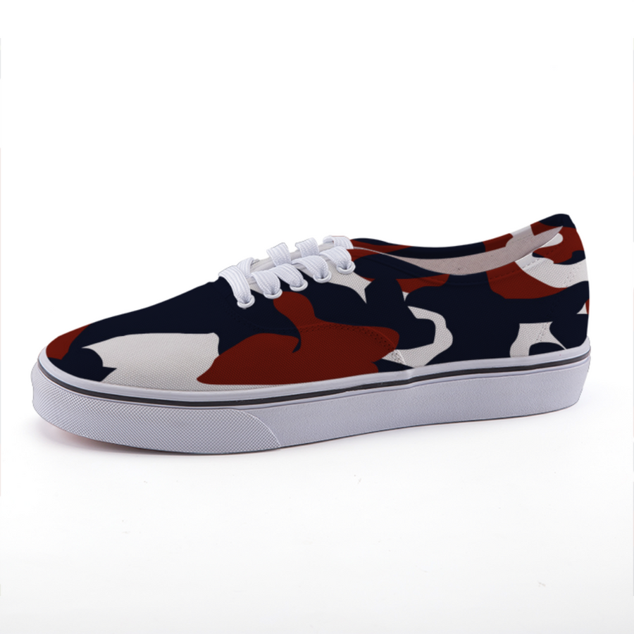 The Homefront Girl® Signature Red, White and Blue Camo -Low-top canvas shoes
