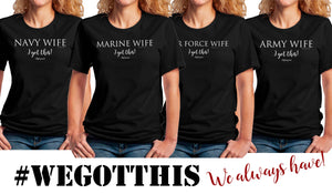 "Air Force Wife ""I got this"" #Deployment Jersey Short Sleeve Tee - [shop_home]"