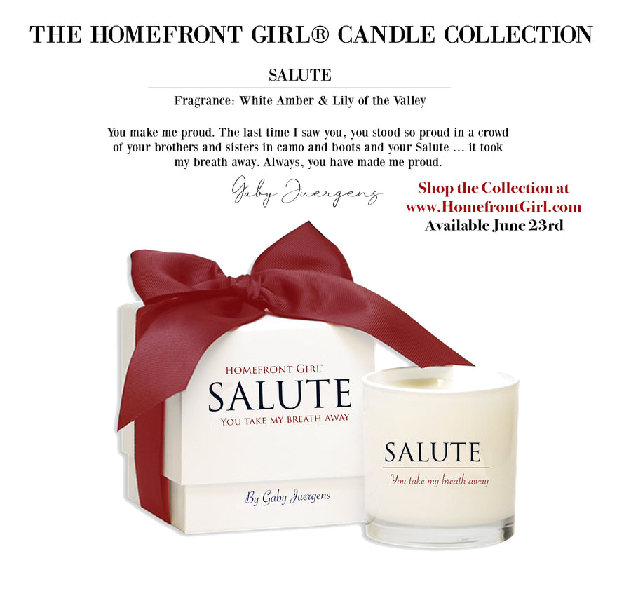 The Homefront Girl® Salute Candle