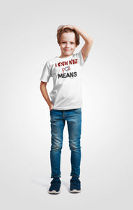 """I know what PCS Means™""   Kids Heavy Cotton™ Tee - [shop_home]"