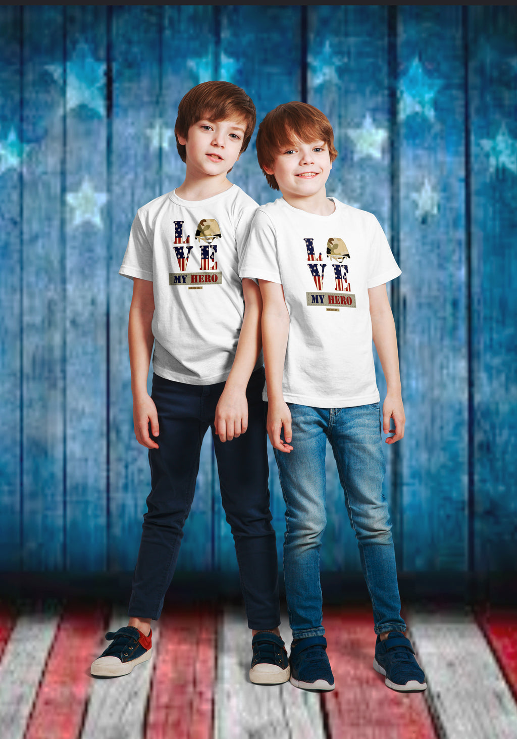 "Homefront Kids™ ""Love my Hero"" Kids Heavy Cotton™ Tee - [shop_home]"