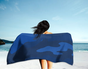 The Homefront Girl® Tribute to Pantone Blue Color Camo- Beach Towel - [shop_home]