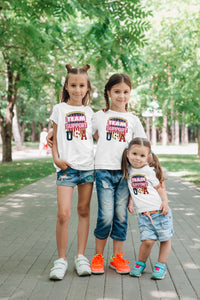 Homefront Kids™ Team Support USA - Girls Heavy Cotton™ Tee - [shop_home]