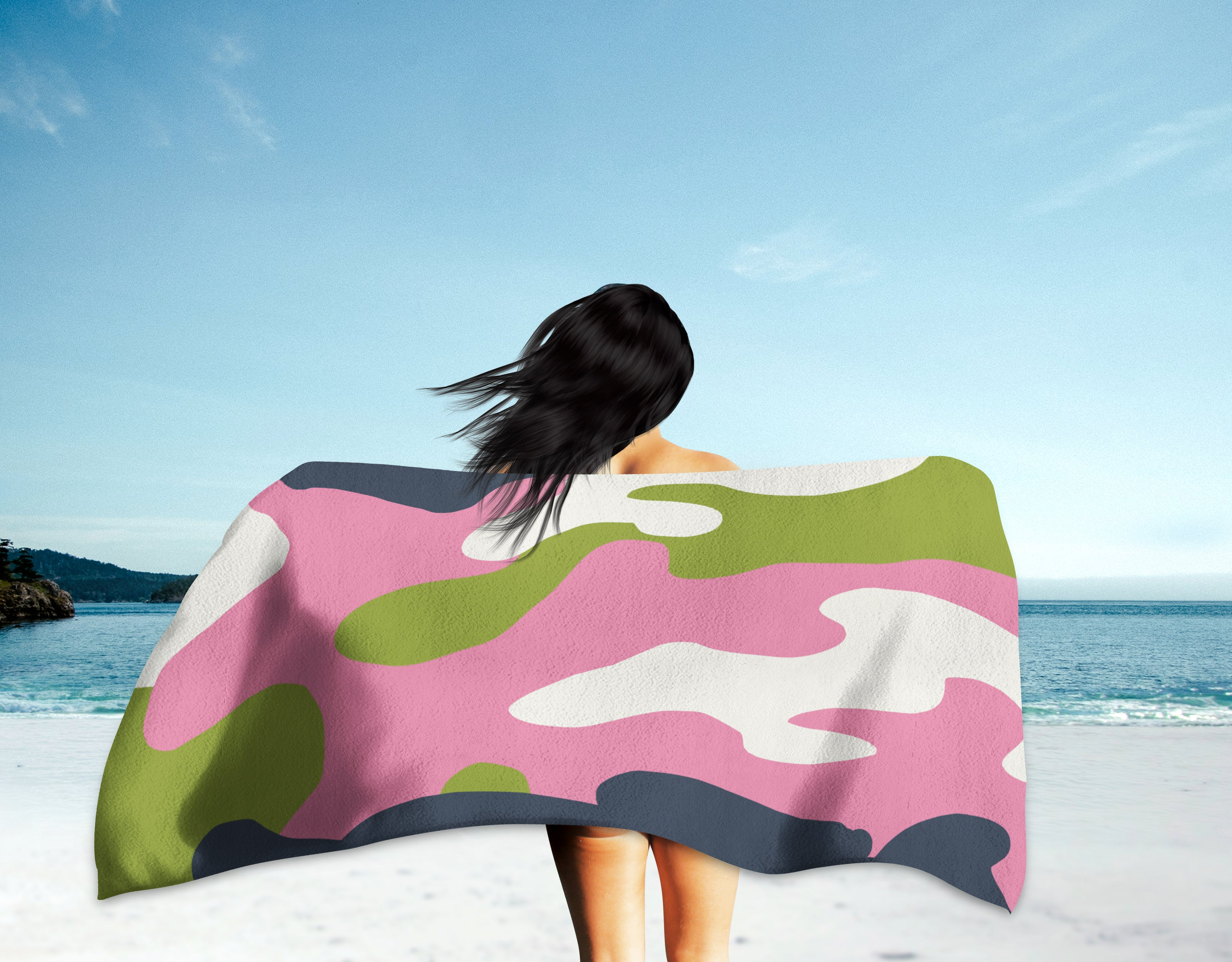 The Homefront Girl® Camo -Beach Towel - [shop_home]