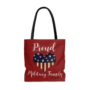 The Homefront Girl® PROUD MILITARY FAMILY - Tote Bag